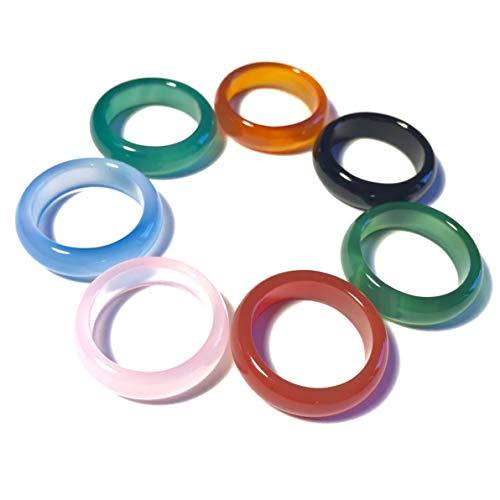 WHITESTONE JEWELRY CO. Rainbow Macaron Stone Ring Set (Size 6.5) (Best Macarons In San Diego)
