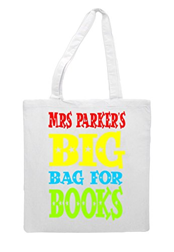 Gift Personalised Big Bag Appreciation White Of Teacher Books Tote Shopper Sublimation Bag WtqwYzrBt