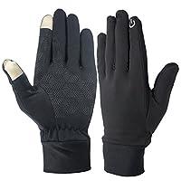Krueis Durable Thin Touch Screen Gloves Warm Drive Work Gloves For Men Women