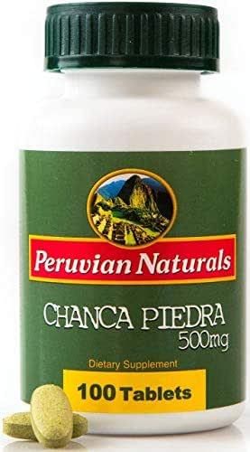 Peruvian Naturals Chanca Piedra 500mg - 100 Tablets (Stonebreaker) | Digestive Supplement for Kidney and Urinary Health
