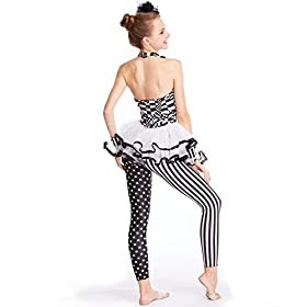 - 41SmeaexKKL - MiDee Dance Costume Character Jumpsuit Performance Unitard Halterneck