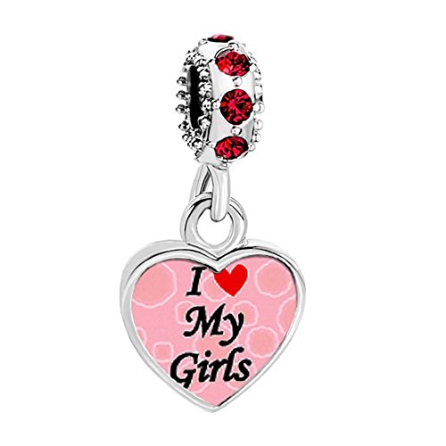Third Time Charm I Love My Boys / Girls Charm Dangle Photo Beads For Charm Bracelets (Girls)
