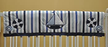 Little Sailor Blue Crib Rail Protector