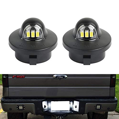 GemPro 2Pcs LED License Plate Light Lamp Compatible with Ford F-150 F-250 F-450 F-550 Superduty Pickup Truck Ranger Explorer Expedition Excursion Bronco Heritage