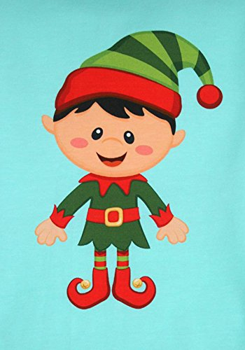 Santa Elf Boy Design, Fabric Panel Printed on Organic Knit, 11.50 Inches Tall (1 Panel) by Fabric Fairytales