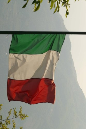 Italian Flag Flying in the Mountains of Italy Journal: Take Notes, Write Down Memories in This 150 Page Lined Journal