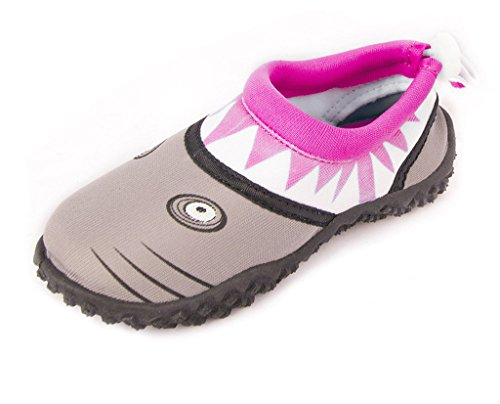 - Fresko Toddler Water Shoes for Girls, Shark U1028, Pink, 9 M US Toddler