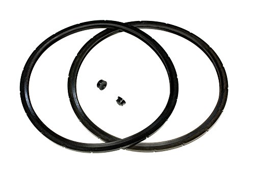 2-Pack of Presto Pressure Cooker Sealing Ring / Gasket & Overpressure Plug (2 Sets per Pack) - Fits Various 6-Quart Presto Models - Corresponds to 09936 (Pressure Part Cooker)