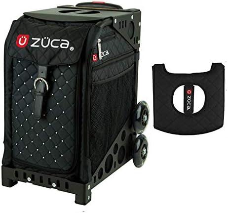 Z?CA INC Zuca スポーツバッグ – ミスティック ギフトブラック/ピンクシートカバー付き (ブラック非点滅ホイールフレーム)