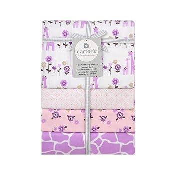 Amazon.com : Carter's girly giraffe printed flannel receiving ... : triboro quilt - Adamdwight.com