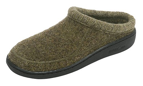 Haflinger Women's ATC Stitch Hardsole Slipper Chianti Speckle 41 European