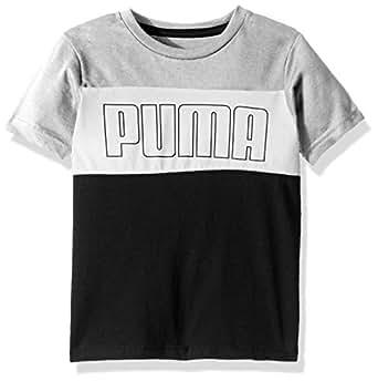 PUMA Boys Puma Boys' Graphic Tee Short Sleeve T-Shirt - White - 4