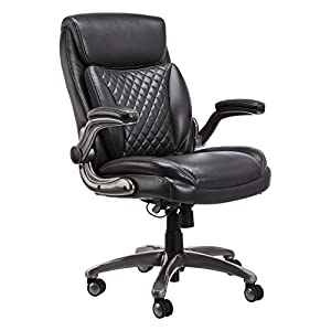 Black leather executive chair by Amazon