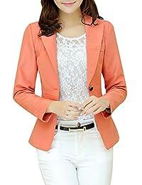 Aro Lora Women's Long Sleeve Slim Fitted Casual Work Plain Suit Jacket Blazer
