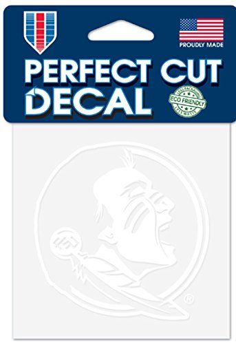 WinCraft NCAA Florida State Seminoles 4x4 Perfect Cut White Decal, One Size, Team Color