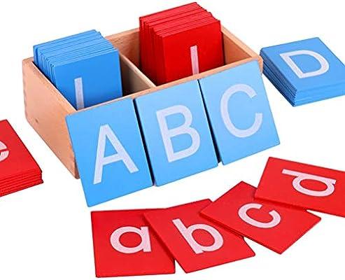 WINBST Caja de Letras del Alfabeto móvil Montessori Juguetes ...