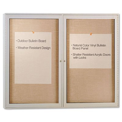 Enclosed Outdoor Bulletin Board, 48 x 36, Satin Finish, Sold as 1 Each from Ghent