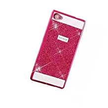 KSHOP Bling Case Coque for Samsung Galaxy A5 (2016) A510 Luxury Sparkling Glitter PC Back Hard Etui Housse Bright Shinning Skin Cover Shell Anti-scratch Bumper, Pink Rose