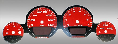 US Speedo MAG065 - Daytona Edition Gauge Faces - Red / Red Night - 140 MPH - for: Dodge Mag / Charg / Challenger Base