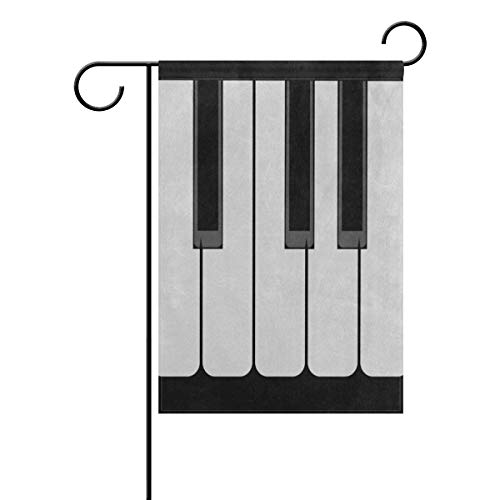 lightly Sweet Home Garden Flag Vertical Double Sided Spring Summer Music Piano Keys Outdoor Yard Flags Decorative 12x18 - Ms Flag Garden
