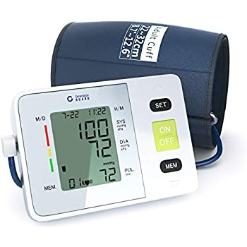 Clinical Automatic Upper Arm Blood Pressure Monitor - Accurate, FDA Approved - Adjustable Cuff, Large Screen Display, Portable Case - Irregular Heartbeat ...