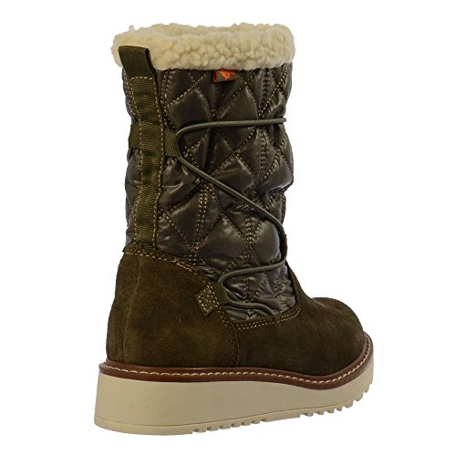 Olive Women's Blastoff Snow Flat Winter Fleece Boot Warm Rocket Lined Dog vBxf55