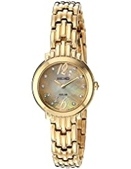 Seiko Womens Tressia Quartz Stainless Steel Casual Watch, Color:Gold-Toned (Model: SUP356)