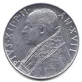 1955 Vatican City 100 Lira Coin KM#55 - Pope Pius XII