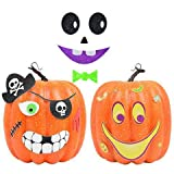 scary halloween decorating ideas Pumpkin Decorating Craft Kits - Can Decorate 12 Jack-O-Lanterns | Felt, Foam Stickers For Kids, School Projects, Art Classes