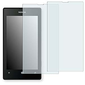 2x Golebo Semi-Matt protectores de pantalla para Nokia Lumia 526 - (efecto antirreflectante, montaje muy fácil, removible sin residuos)