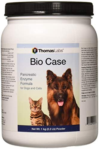 Thomas Labs Bio Case – Pancreatic Enzyme Supplement for Dogs Cats – Digestive Aid – 2.2 Pounds, Powder
