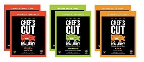 Chef's Cut Gluten Free Real Bacon Jerky, Variety Pack