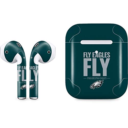 Skinit Philadelphia Eagles Team Motto Apple AirPods 2 Skin - Officially Licensed NFL Audio Sticker - Thin, Case Decal Protective Wrap for Apple AirPods 2