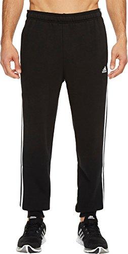 adidas Mens Essentials 3-Stripe Jogger Pants, Black/White, Medium