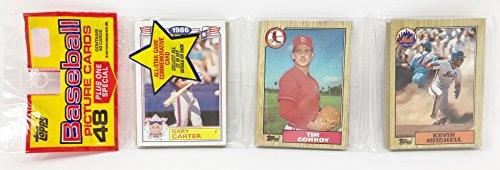 1986 Unopened 48 Count Baseball Rack Pack + 1 All Star Commemorative Card - Gary Carter New York Mets (49 Total Cards)