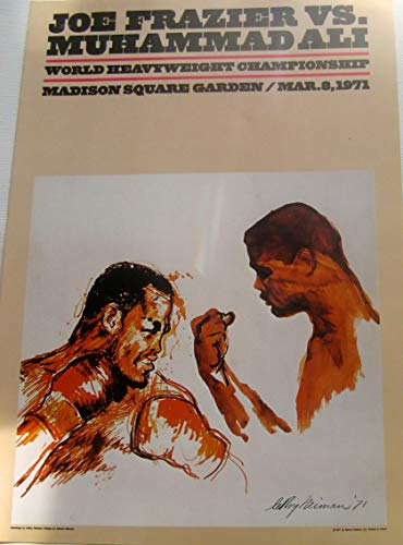 LEROY NEIMAN Poster for 1971 Ali-Frazier Fight Poster Reprinted 16x11 Offset Lithograph ()