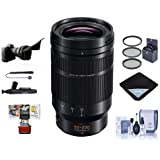 Panasonic Lumix G Leica DG Vario-Elmarit 50-200mm F/2.8-4 Aspheical Lens Micro 4/3 - Bundle 62mm Filter Kit, Lens Wrap, Cleaning Kit, Flex Lens Shade, Capleash, Lenspen Cleaner, Mac Software