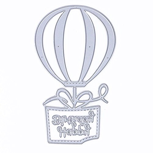 SODIAL Schoen Hot Air Balloon Shape Cutting Dies Cutting Stencils for DIY Scrapbooking Album, Cutting Stencils Paper Cards Scrapbook Decor
