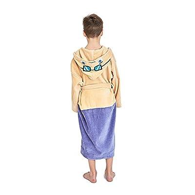 Kids DanTDM Hooded Robe Cotton Terry Bathrobe For Boys And Girls
