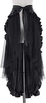 NVDKHXG Belle Poque Faldas Negras para Mujer con Volantes ...