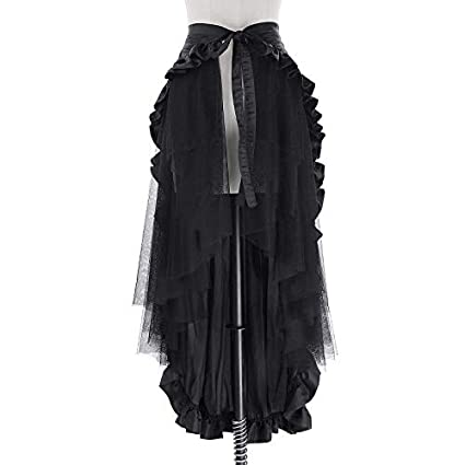 NVDKHXG Belle Poque Faldas Negras para Mujer con Volantes Falda ...