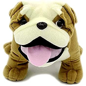 Baxter Bocchetta Plush Toys Bulldog Standing 38cm Animal Stuffed Toy for Kids
