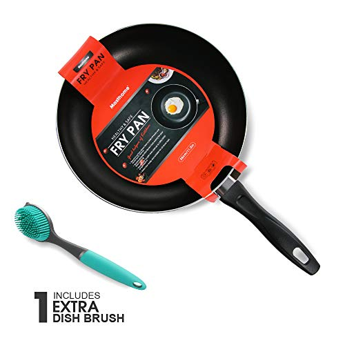 11.2 Inch Nonstick Frying Pan Induction Bottom Aluminum Alloy Skillet With Cleaning Brush Omelette Fry Pan Dishwasher Friendly Masthome