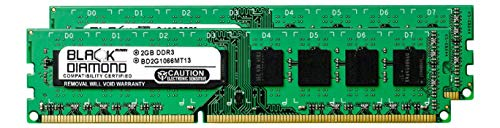 4GB 2X2GB RAM Memory for EVGA nForce 790i Ultra SLI DDR3 DIMM 240pin PC3-8500 1066MHz Black Diamond Memory Module Upgrade