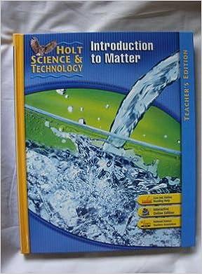 Amazon.com: Holt Science & Technology: Teacher Edition K ...