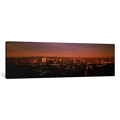 iCanvasART 1-Piece USA, Washington, Spokane, Cliff Park, High Angle View of Buildings in a City Canvas Print by Panoramic Images, 1.5 by 36 by (Spokane Washington Usa Framed)