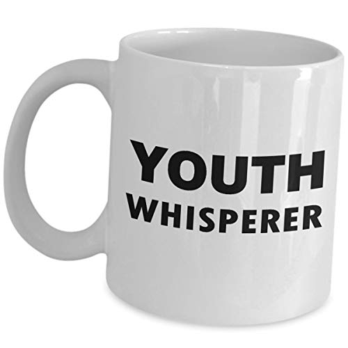 Funny Cute Gag Gifts for Youth Pastor Whisperer - Appreciation for Ministries Tea Cup Coffee Mug Group Leader Organization Bible Study Faith Ministry Program Class Minister Religious Group