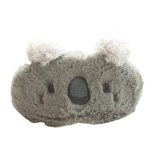 ACTLATI Cute Cartoon Animal Sleeping Eye Mask Breathable Koala Blindfold Elastic Sleep Aid Cover