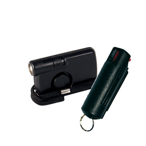 College Safety Bundle: Wildfire .5 Oz Hard Case Pepper Spray and Personal Alarm with Flashlight Bundle Lot of 2