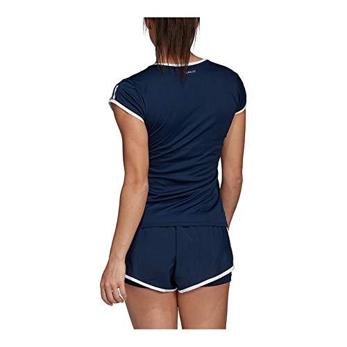 Tee Collegiate Club Navy Adidas Strisce Tennis WqwHvv476